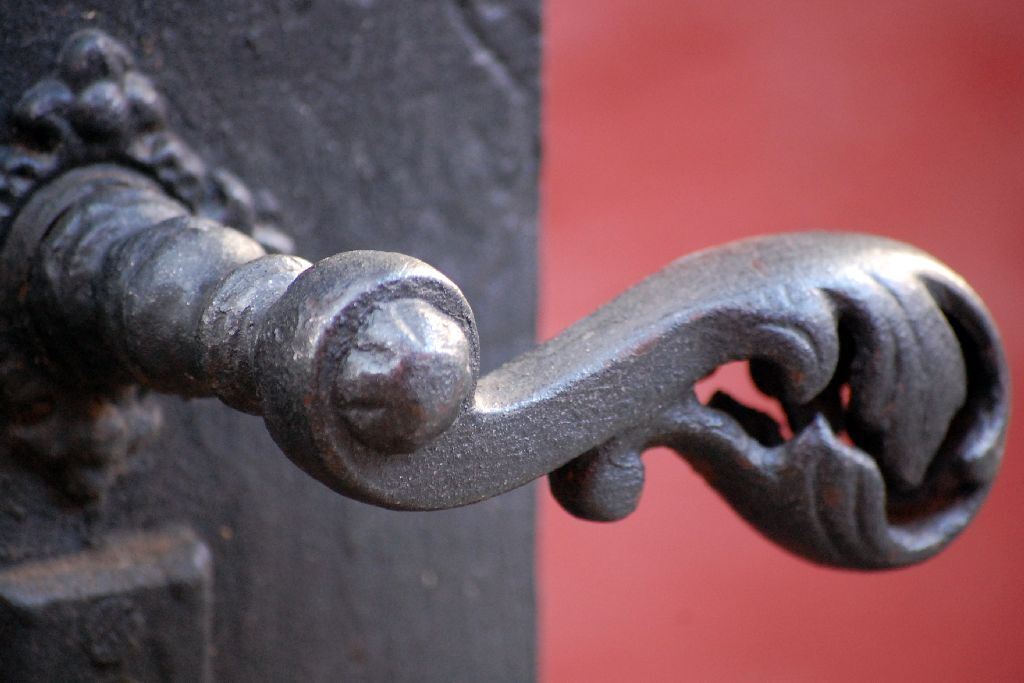 Cast iron doorknob
