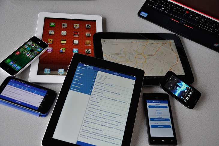 Photo of mobile devices