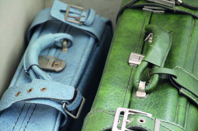 Close up of two suitcases