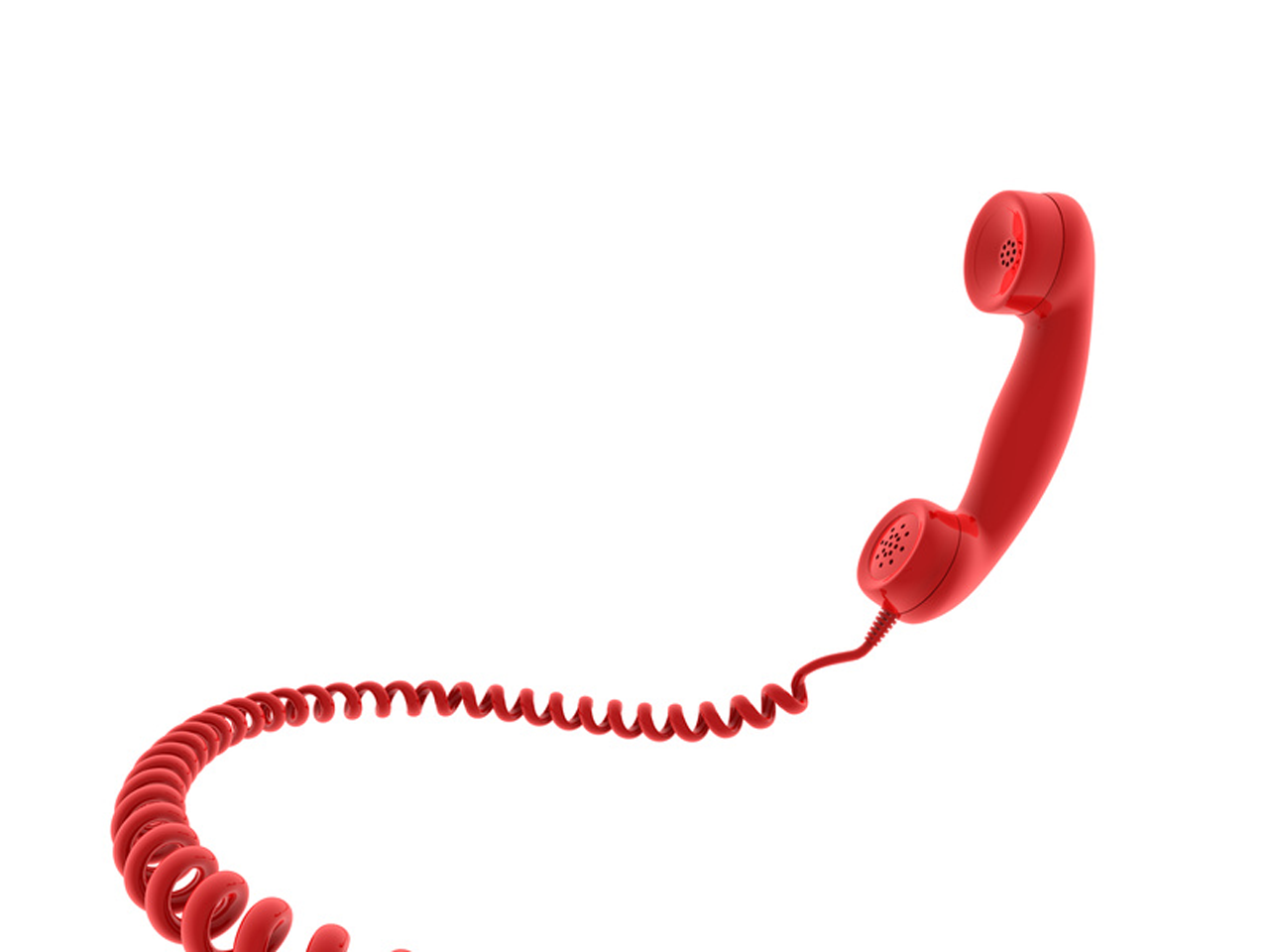 A red telephone receiver