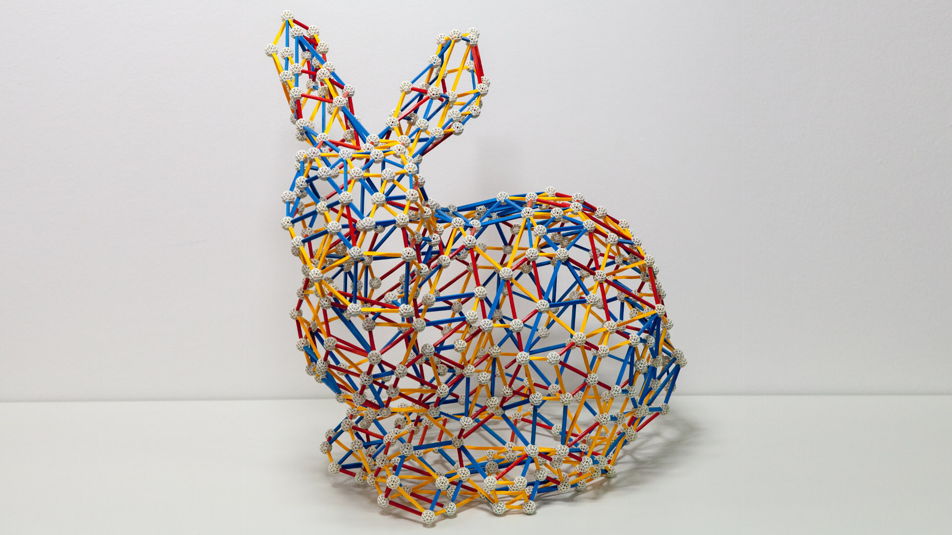 Model of a Bunny made of Vertices