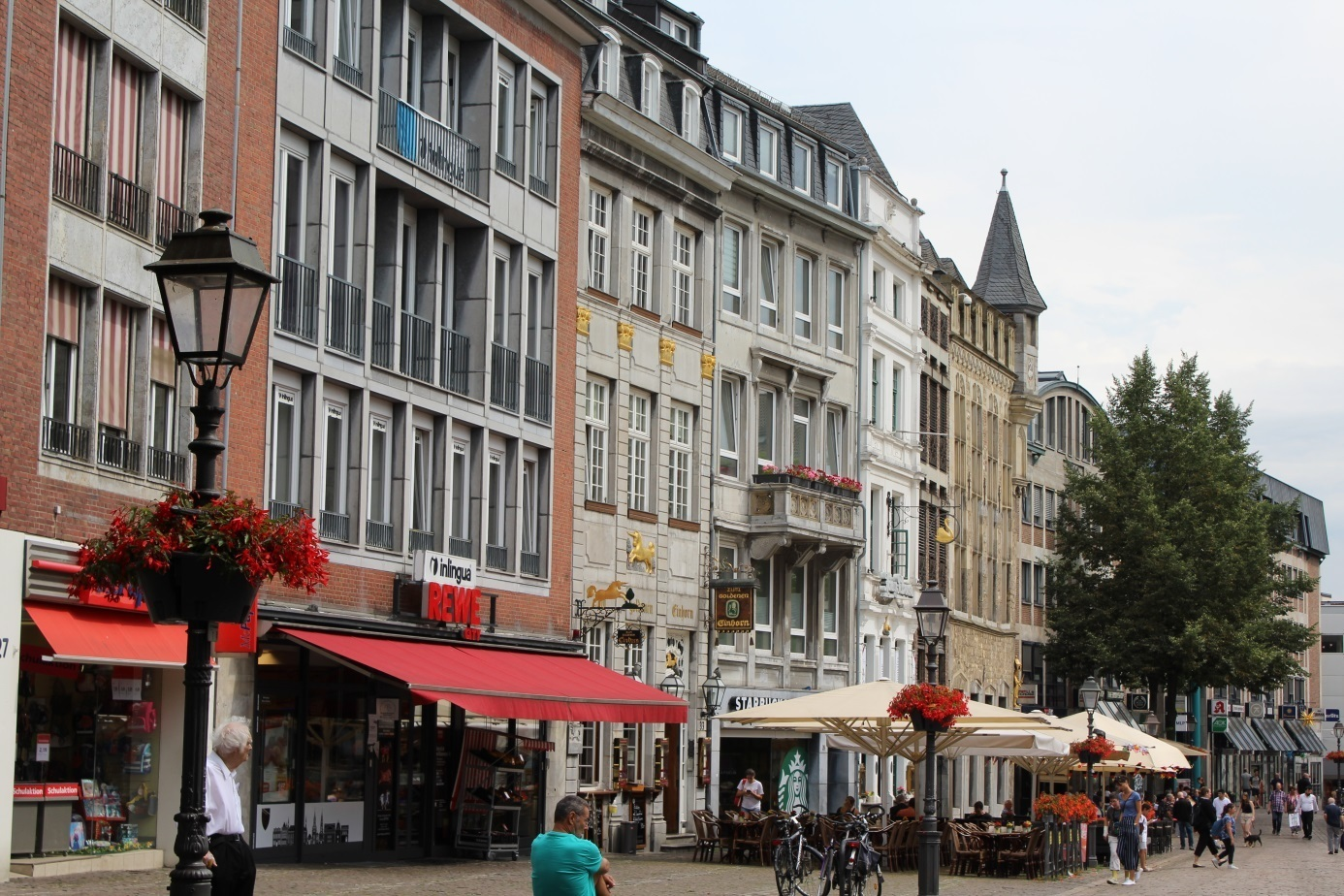 Houses in the center of Aachen